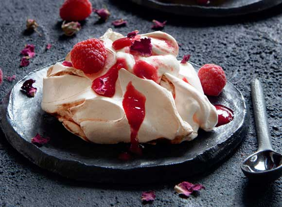 Rose and Raspberry Ripple Meringues | Food to Film