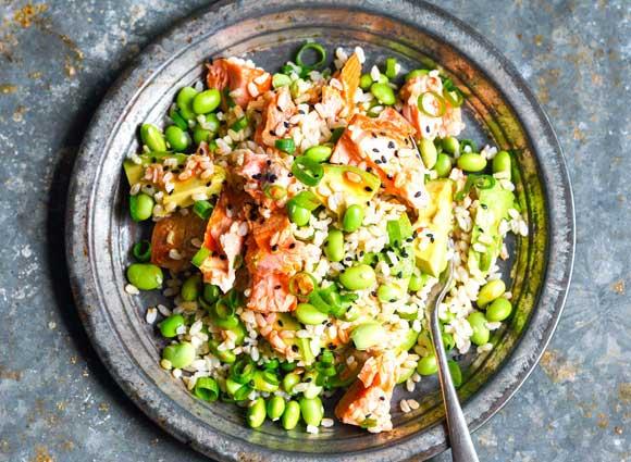 Salmon and Rice Salad