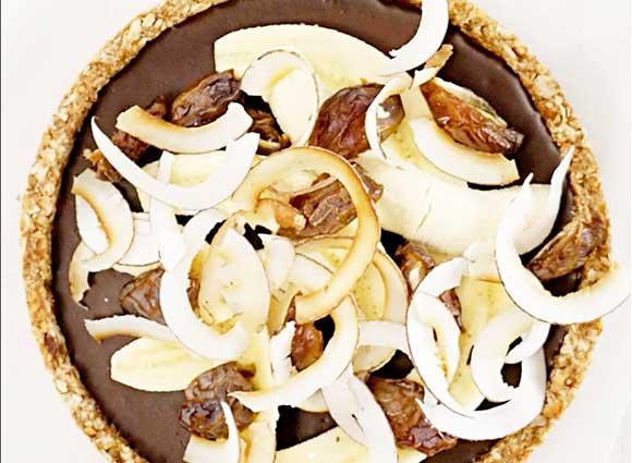 Chocolate Caramel and Banana Tart
