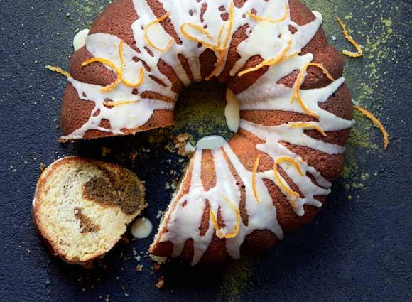 Matcha Mandarin Bundt Cake
